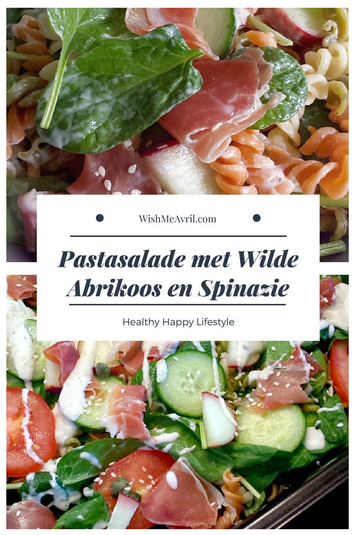 Pastasalade met Wilde Abrikoos en Spinazie