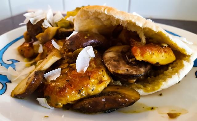 Pita met Kip en Champignons | Zomer en Herfst op je bord