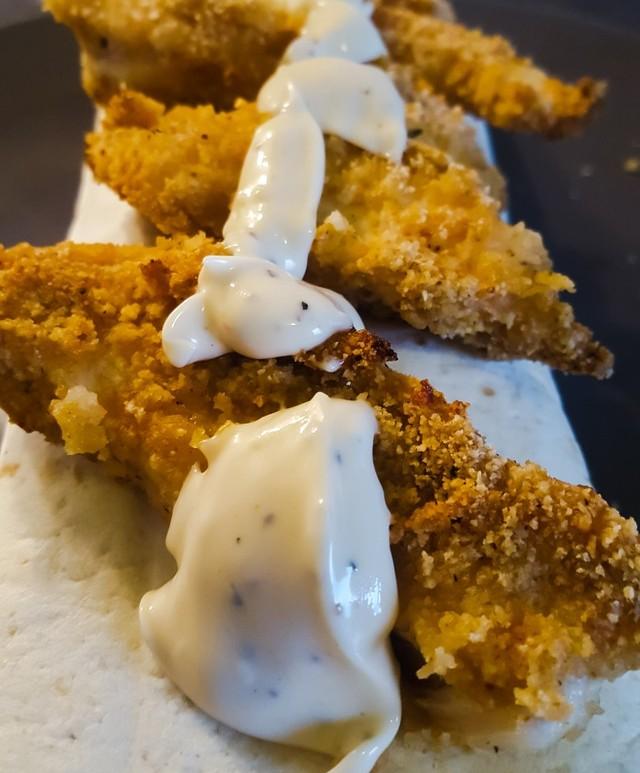 Kip-Cajun Wrap met Bloemkool en Sperziebonen