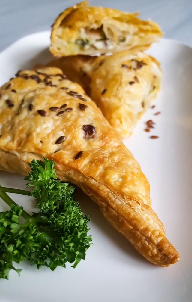Gevulde Croissant met Champignons en Heksenkaas