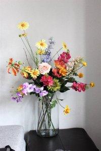 Zijden bloemenboeket