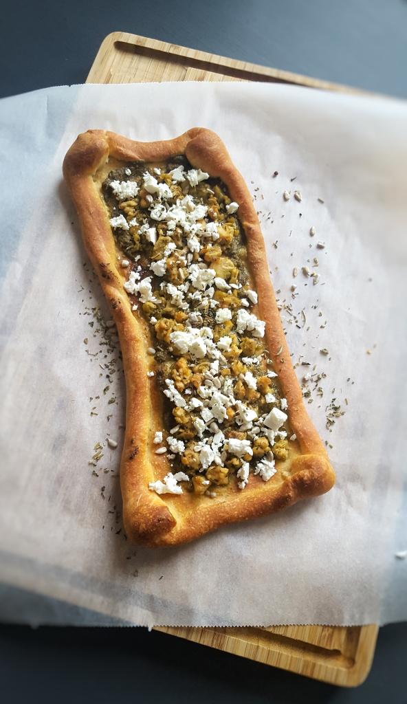 Pizza met Zalm en Fetakaas