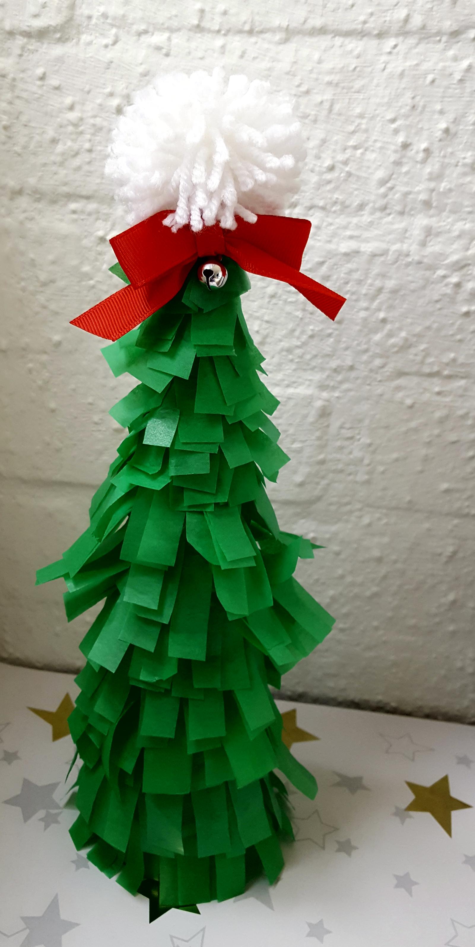 diy kerstboom vloeipapier