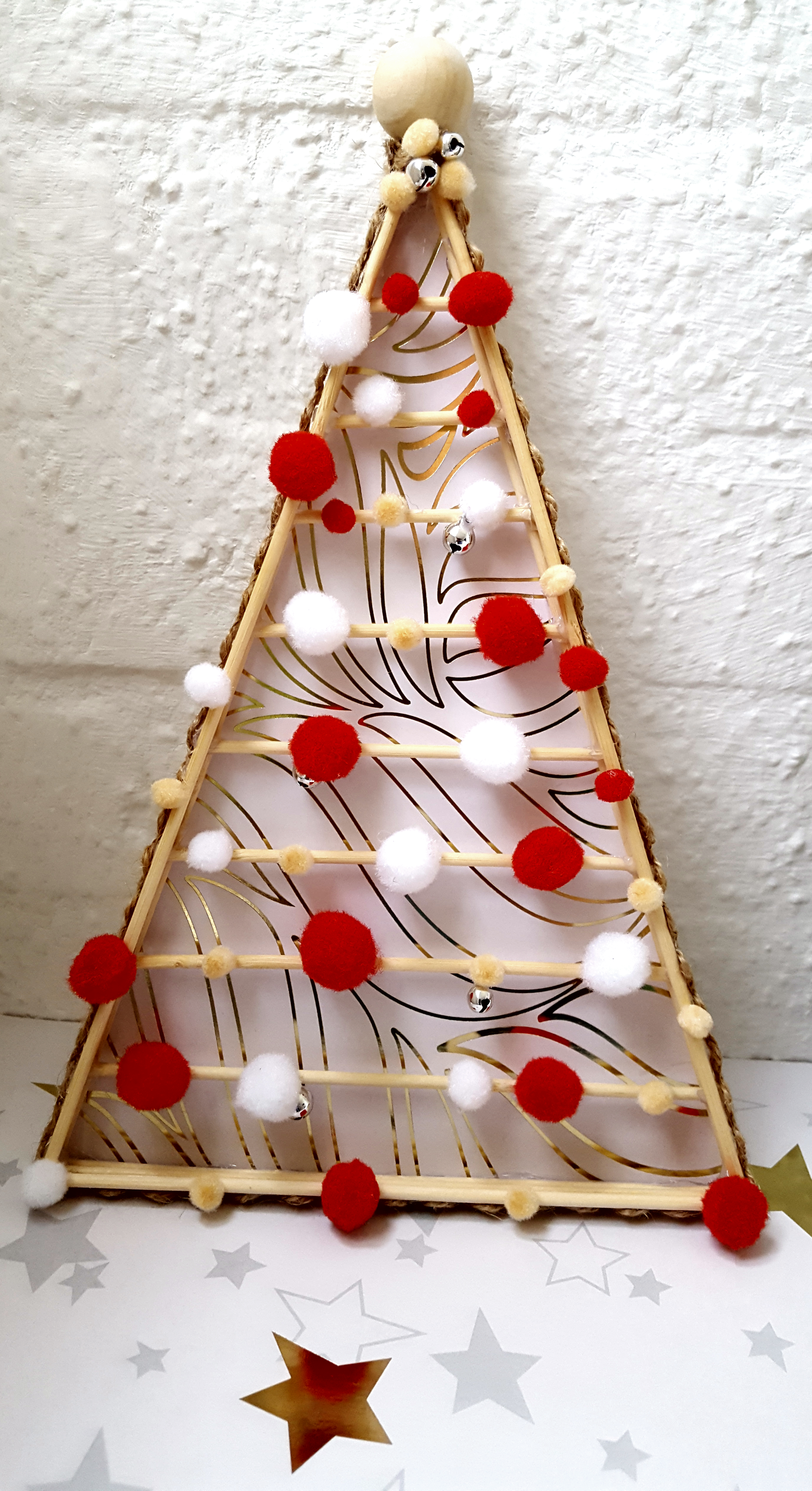 Kerstboom van satéprikkers